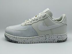 Nike Air Force 1 Crater Summit White Gray Mens Size 8 Womens 9.5 New Cz1524-100
