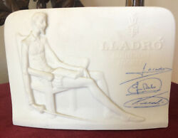 Lladro Spain Collection Store Display Antique Advertisement Plaque