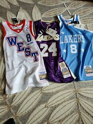 Kobe Bryant All Star, Hof, Throwback Mitchell And Ness Authentic Jersey Size L