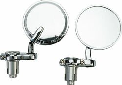 Harddrive Chrome Cafe Style Bar End Mirrors Left Right Set Harley W 1919-1940