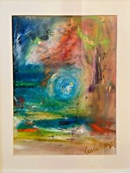 Abstract Impressionism Original Oil Painting 21andrdquox17andrdquo Framed Modern Art Signed