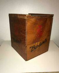 Vintage Bordens Wooden Dairy Box Mfg By Industrial Home For The Blind Brooklyn