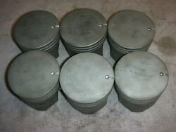 Corvair .030 Gm Pistons No Wear Used In High School Auto Shop Barrels Extra