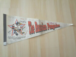 Rare Russian Penguins Autographed Signed Cska Red Army Pennant 77cm