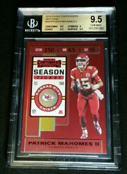 Bgs 9.5 Patrick Mahomes Ii Red Zone 20 Or Less Made Pop 5 2019 Contenders 39