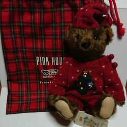 steiff X Pink House Teddy Bear Stuffed Toy Shipped From Japan