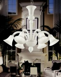 Suspended Lights Classic With Glass Of Murano White