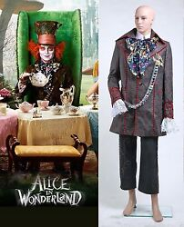 Alice In Wonderland Johnny Depp Mad Hatter Costume Halloween Cosplay Carnival