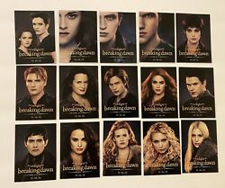 Twilight Breaking Dawn Part 2 Trading Card Promo Set Of 15 Exclusive Sdcc 2012