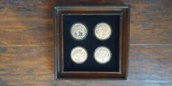 Vintage Norman Rockwell Four Seasons Sterling Silver Coin Display Hamilton Mint