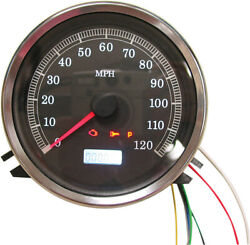 Electronic Speedometer Gauge Black Face For 6 Speed Harley Road Glide 2003