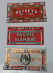 Lot Of 300 100 Ea. Vintage Cigar Box Labels -embossed. Near Mint 3.5 X 6.75