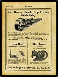 1910 Havana And Baby Red Gas Engines New Metal Sign Large Size 12 X 16