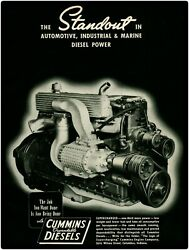 1940 Cummins Supercharged Diesel Engine New Metal Sign Large Size 12 X 16