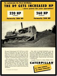 1956 Caterpillar Tractor New Metal Sign Cat Turbo Charge D9 Large Size 12 X 16