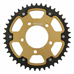 New Supersprox Stealth Sprocket, 43t For Marvic 525 Pitch 5 Bolts 00, Gold