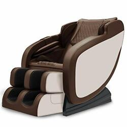 Real Relax 3d Massage Chair Recliner W/ Bluetooth,s Track,yoga Stretching,golden
