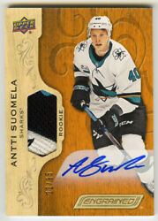 Antti Suomela 2018-19 Upper Deck Engrained Auto Patch Card 22/65