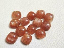 Natural Sunstone Cabochon Loose Gemstones Cushion Shape For Size 21mm To 25mm