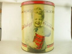 43345 Old Vintage Retro Kitsch Tin Can Sweet Candy Toffee Thorneand039s Shop Display