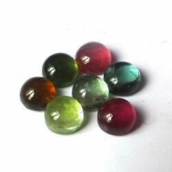 Natural Multi-color Tourmaline Gemstones Round Cab 9mm To 10mm With Aaa Quality