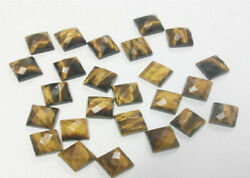 Tiger Eye Octagon Rose Cut Loose Gemstones 7x9mm To 13x18mm Size Aaa Quality