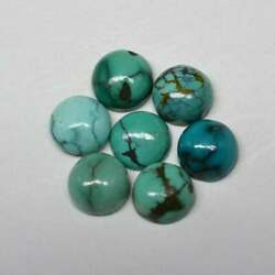 Natural Tibetan Turquoise Loose Gemstone 16mm To 20mm Round Cabochon Aaa Quality