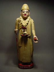 Antique Burmese Wood-carved Holy Man And039shamanand039 Figure Myanmar 19th C.