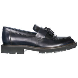 Todand039s Moccasins Men Xxm46a0z080sfiu807 Blu Navy Block Heel Leather Shoes Loafer