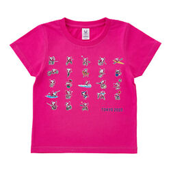 Tokyo 2020 Paralympic Mascot Kids T-shirt All Competition Pose Pink 130 Size