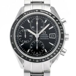Free Shipping Pre-owned Omega Speedmaster Date 3210.50 Black Dial Self-winding