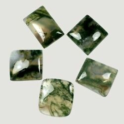 Aaa Quality Natural Loose Gemstones Moss Agate Square Cabochon 16mm To 20mm