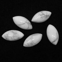 Natural Howlite Loose Gemstones Marquise Shape Size In 8x16mm To 10x20mm