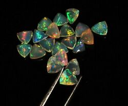 Natural Ethiopian Opal Trillion Faceted Cut Loose Gemstone Size 4mm Aaa Quality