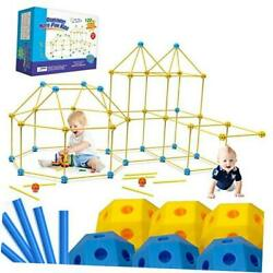 Fort Building Kit For Kids 122 Pieces Creative Fort Toy For Ages 3-12 Boy And