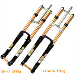 Zoom Downhill 1-1/8 Mountain Mtb Bike Suspension Forks Disc 26/27.5and039and039 Thru Axle