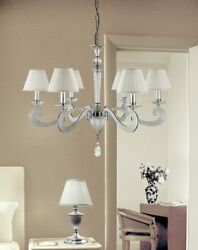 Suspended Lights Classic With Crystal Clear - Silver