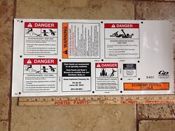 25 Each Danger Decal Sticker For Bush Hog Sheet Safety Is Worth It New
