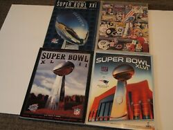 Ny Giants Super Bowl Programs For All 4 Wins S 21, 25, 42, And 46 Vgc