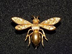 Vintage Gold Insect Brooch