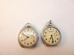 2 Ingersoll Second Hand At 3 Pendant Watches For Restoration Or Parts Vintage