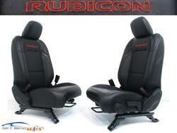 Jeep Gladiator Jt Rubicon Black Leather Red Embroidery New Front Seats 2020 2021