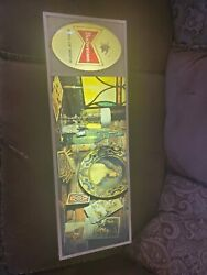 Rare Vintage 60s Budweiser Beer Lighted Sign Neon Bar 70s King Of Beers 36x12x4