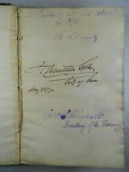 Autograph Album Signed By Ulysses S. Grant His Cabinet Abolitionists And Others