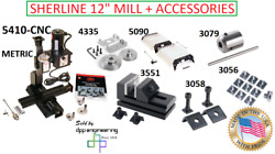 5410-cnc Metric Cnc Ready Deluxe Mill + Various Accessories