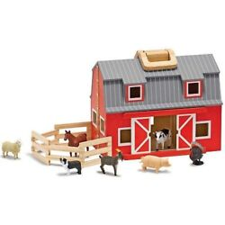 Toy-fold And Go Barn 10 Pieces Ages 3+