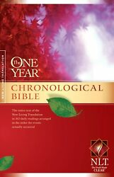 Nlt One Year Chronological Bible-softcover
