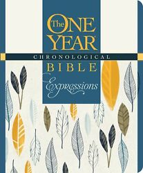 Nlt One Year Chronological Bible Creative Expressions-deluxe Blue Hardcover