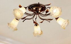 Ceiling From Ceiling Classic With Glass Of Murano Antique Silver White Gold