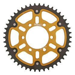 New Supersprox Stealth Sprocket, 7095-46 For Marvic 525 Pitch 6 Bolts 00, Gold